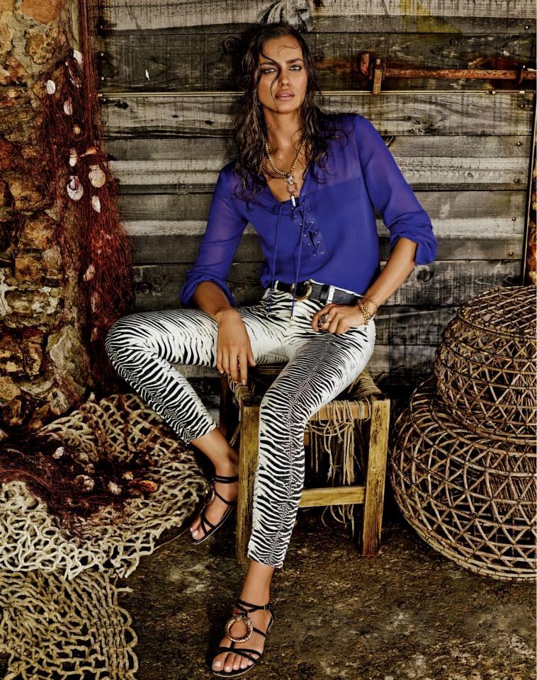 Irina Shayk Smolders in the Roberto Cavalli for C&A Campaign