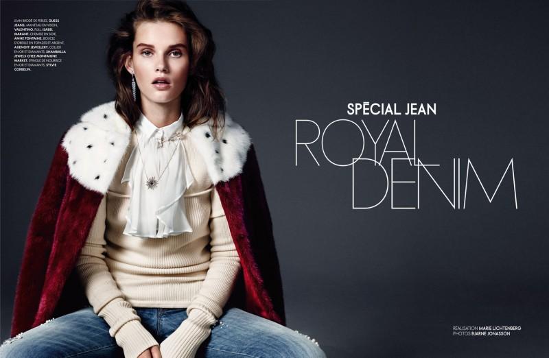 Giedre Dukauskaite is Royal Casual for Elle France by Bjarne Jonasson