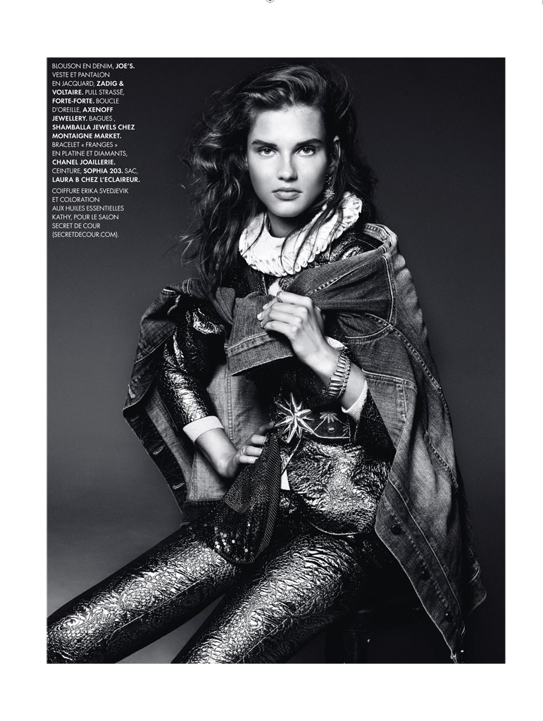 royal denim3 Giedre Dukauskaite is Royal Casual for Elle France by Bjarne Jonasson