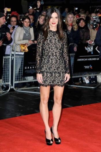 """Sandra Bullock Wears Stella McCartney to the """"Gravity"""" London Premiere"""
