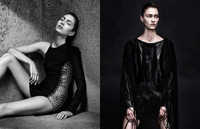sharif interview shoot1 800x516 Marine Deleeuw Wears Sleek Style for Sharif Hamza in Interview Germany