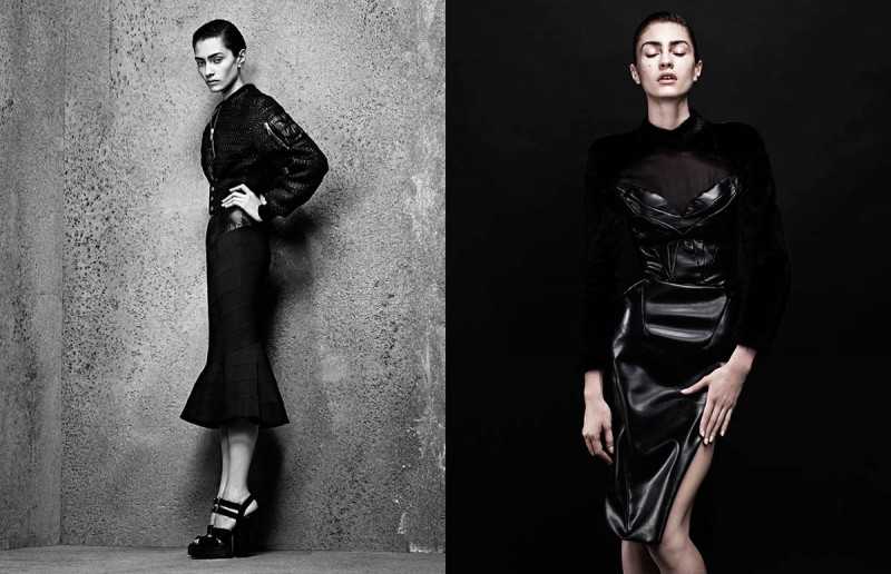 sharif interview shoot2 800x516 Marine Deleeuw Wears Sleek Style for Sharif Hamza in Interview Germany
