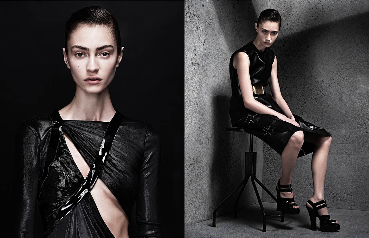 Marine Deleeuw Wears Sleek Style for Sharif Hamza in Interview Germany