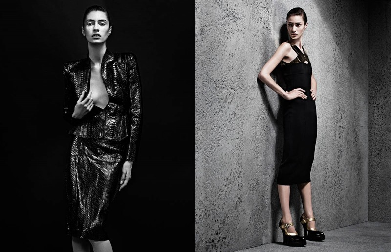 sharif interview shoot5 800x516 Marine Deleeuw Wears Sleek Style for Sharif Hamza in Interview Germany