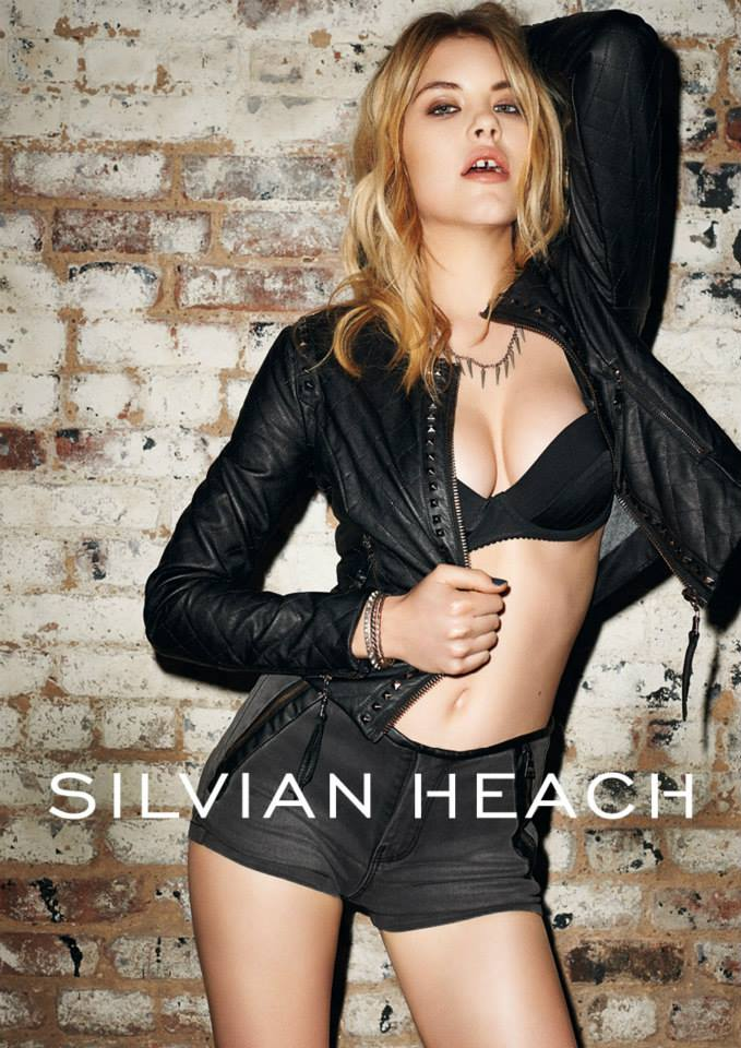 silvian heach fall ads1 Ashley Smith Smolders in Silvian Heach Fall 2013 Ads by Terry Richardson