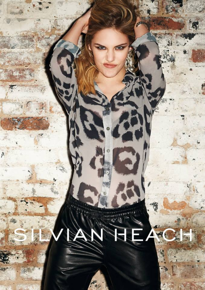 silvian heach fall ads4 Ashley Smith Smolders in Silvian Heach Fall 2013 Ads by Terry Richardson