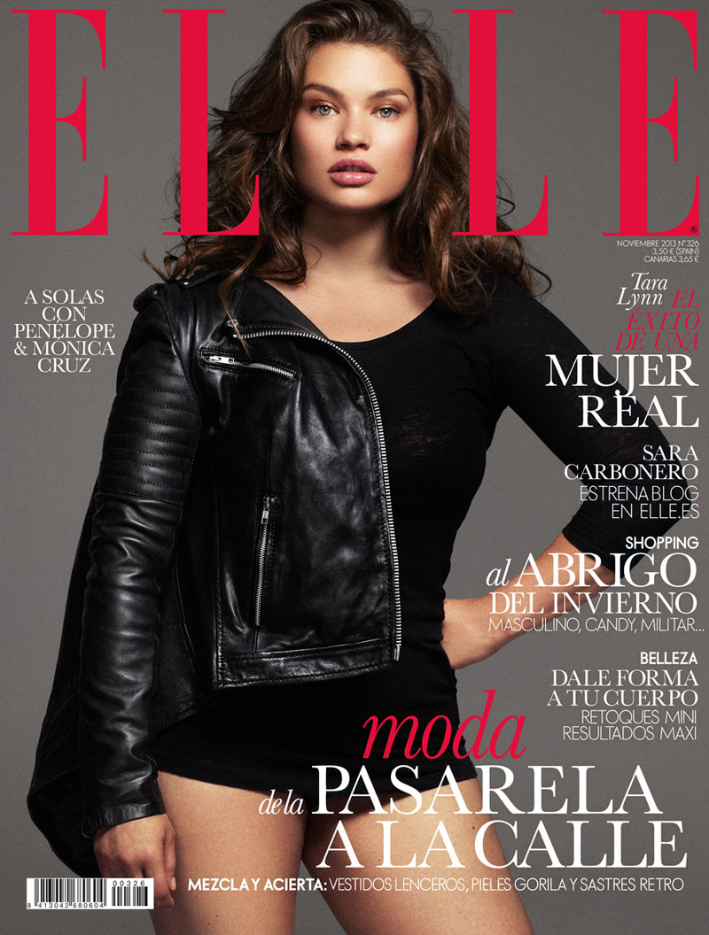 tara lynn model1 Tara Lynn Wows for Xavi Gordo in Elle Spain November 2013 Cover Shoot