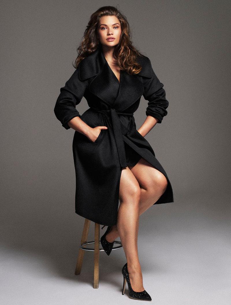 Tara Lynn Wows for Xavi Gordo in Elle Spain November 2013 Cover Shoot