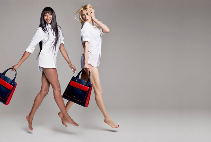 tommy breast health campaign2 Naomi Campbell + Claudia Schiffer Pose for Tommy Hilfiger Breast Health International Campaign