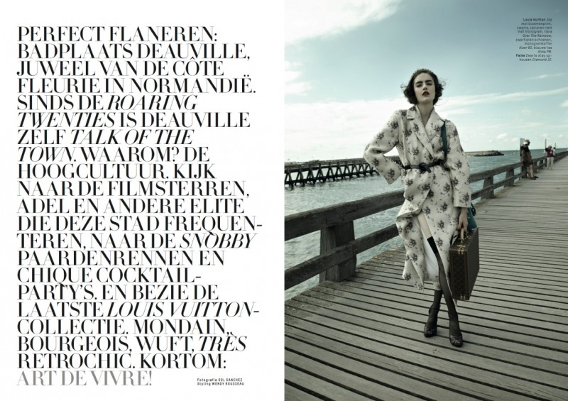 Daphne Velghe Wears Louis Vuitton for L'Officiel Netherlands' 5th Anniversary Issue