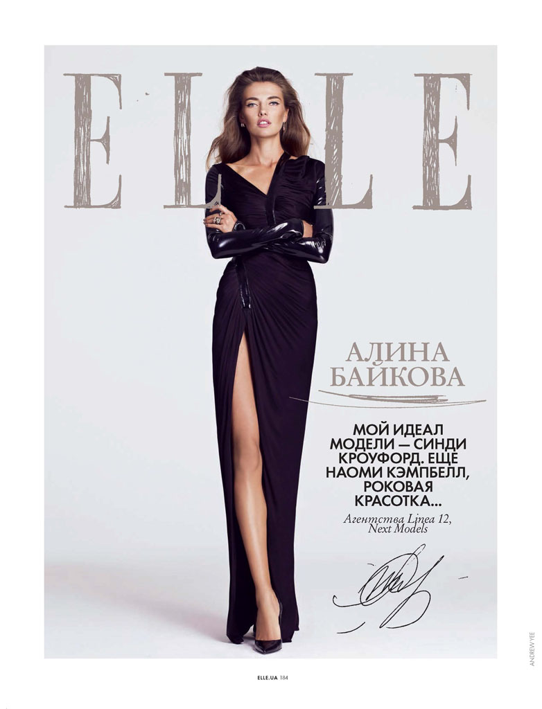 ukraine models9 Alina Baikova, Alla Kostromicheva + More Pose for Andrew Yee in Elle Ukraine November 2013