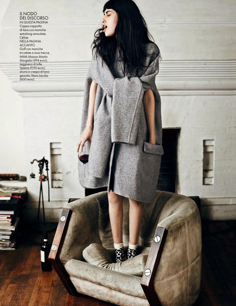 Vanessa Moreira Keeps it Casual for Dan Martensen in Elle Italia Spread