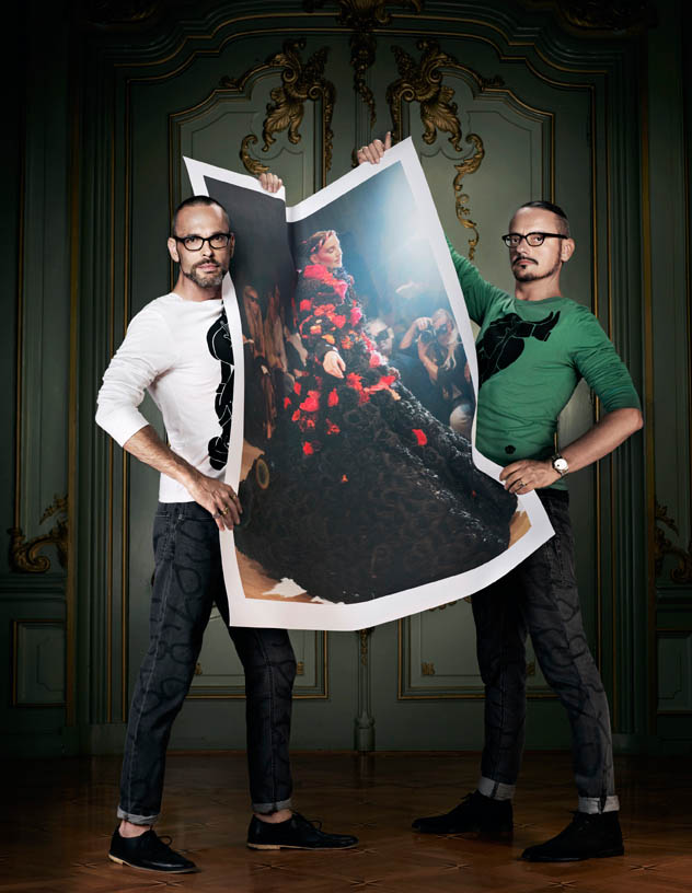 Viktor & Rolf Revisit Their Greatest Hits for Vogue Netherlands by Philip Riches