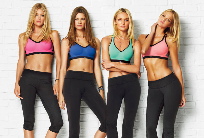 vs sport9 Candice Swanepoel, Doutzen Kroes + More Get Active for Victorias Secret Sport
