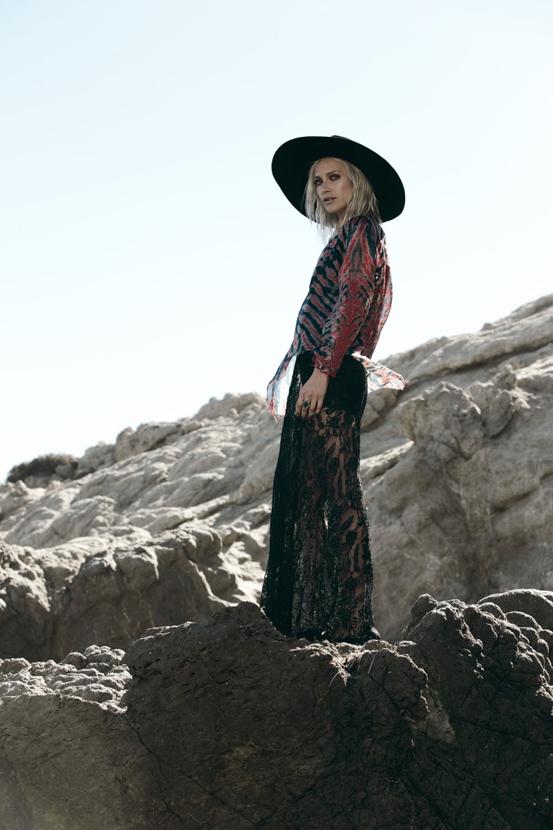 "First Look at Wasteland's ""Paint it Black"" Lookbook Starring Lauren Hastings"