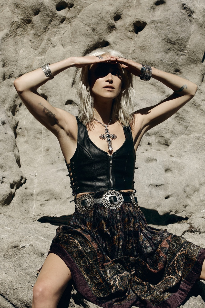 wasteland paint it black9 First Look at Wastelands Paint it Black Lookbook Starring Lauren Hastings