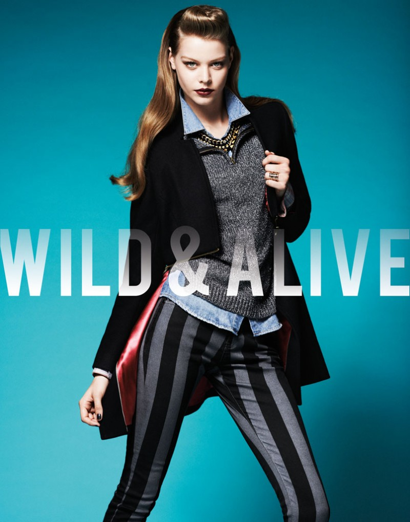 wild alive10 800x1017 Barbara Fialho & Caroline Loosen Star in Wild & Alive Fall 2013 Ads by Bjarne Jonasson