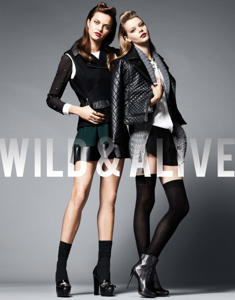 wild alive11 800x1018 Barbara Fialho & Caroline Loosen Star in Wild & Alive Fall 2013 Ads by Bjarne Jonasson