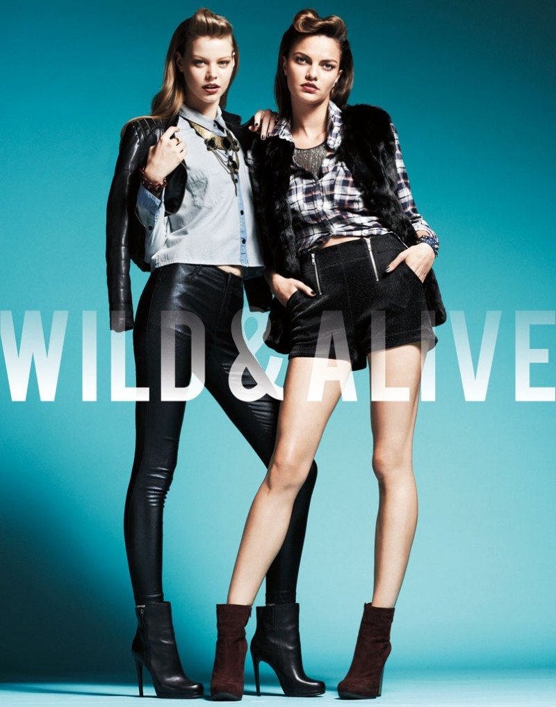 wild alive2 800x1018 Barbara Fialho & Caroline Loosen Star in Wild & Alive Fall 2013 Ads by Bjarne Jonasson