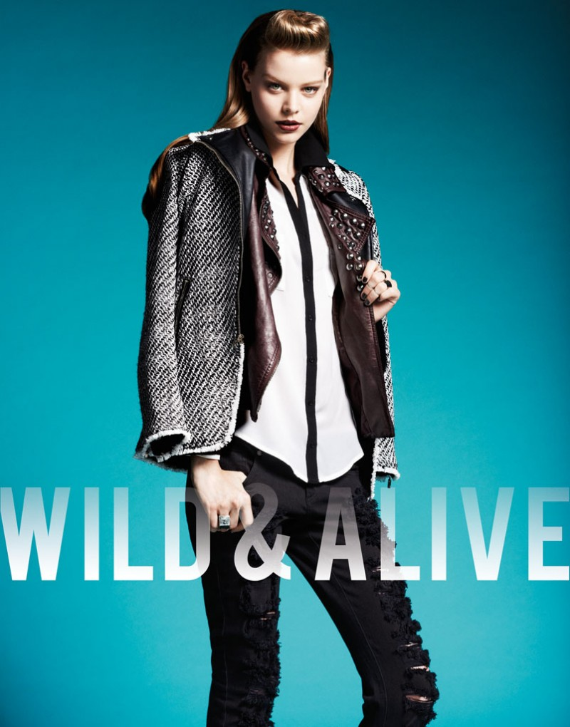 wild alive7 800x1020 Barbara Fialho & Caroline Loosen Star in Wild & Alive Fall 2013 Ads by Bjarne Jonasson