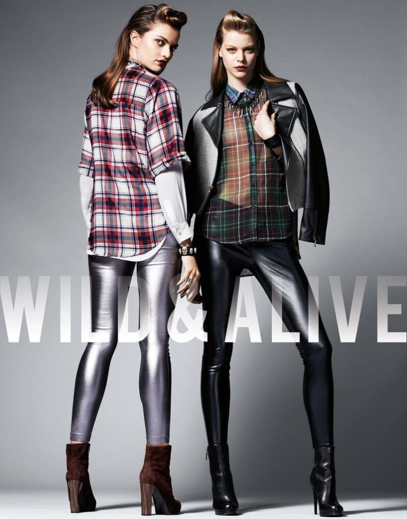 Barbara Fialho & Caroline Loosen Star in Wild & Alive Fall 2013 Ads by Bjarne Jonasson