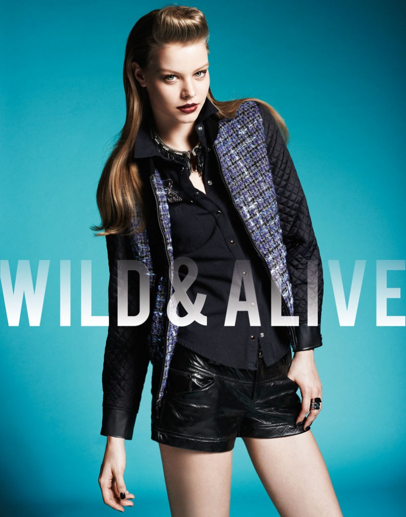 wild alive9 800x1018 Barbara Fialho & Caroline Loosen Star in Wild & Alive Fall 2013 Ads by Bjarne Jonasson