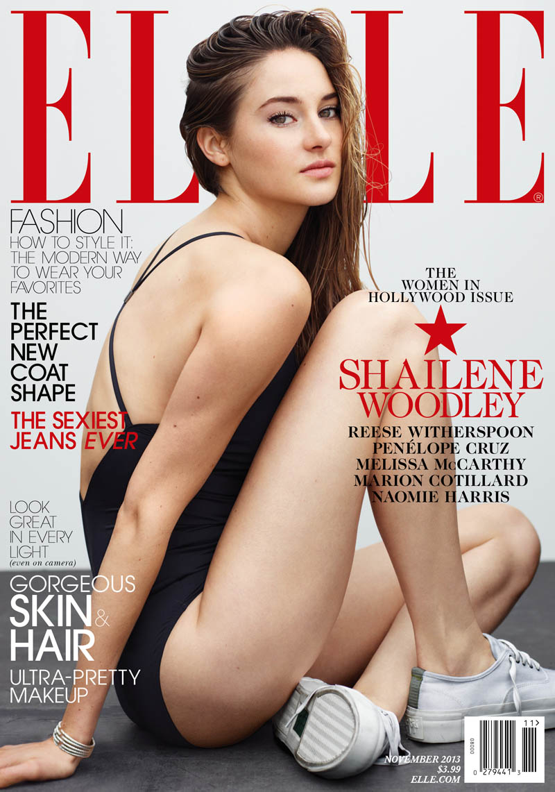 women in hollywood7 Reese Witherspoon, Penelope Cruz, Shailene Woodley + Melissa McCartney for Elle November 2013 Cover Story