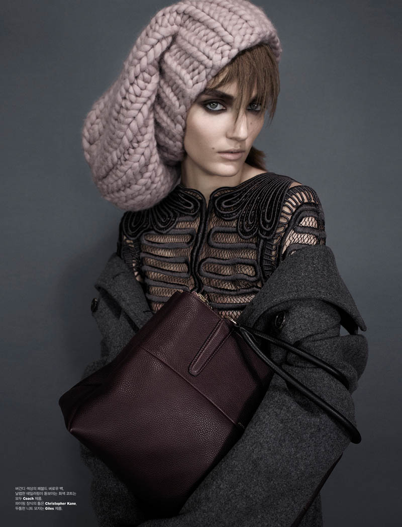 zuzanna w shoot2 Zuzanna Bijoch is Moody Chic for W Korea Shoot by Catherine Servel