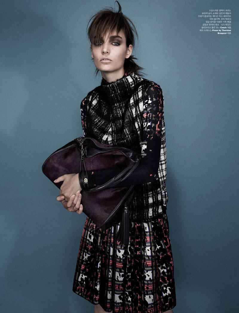 zuzanna w shoot3 Zuzanna Bijoch is Moody Chic for W Korea Shoot by Catherine Servel