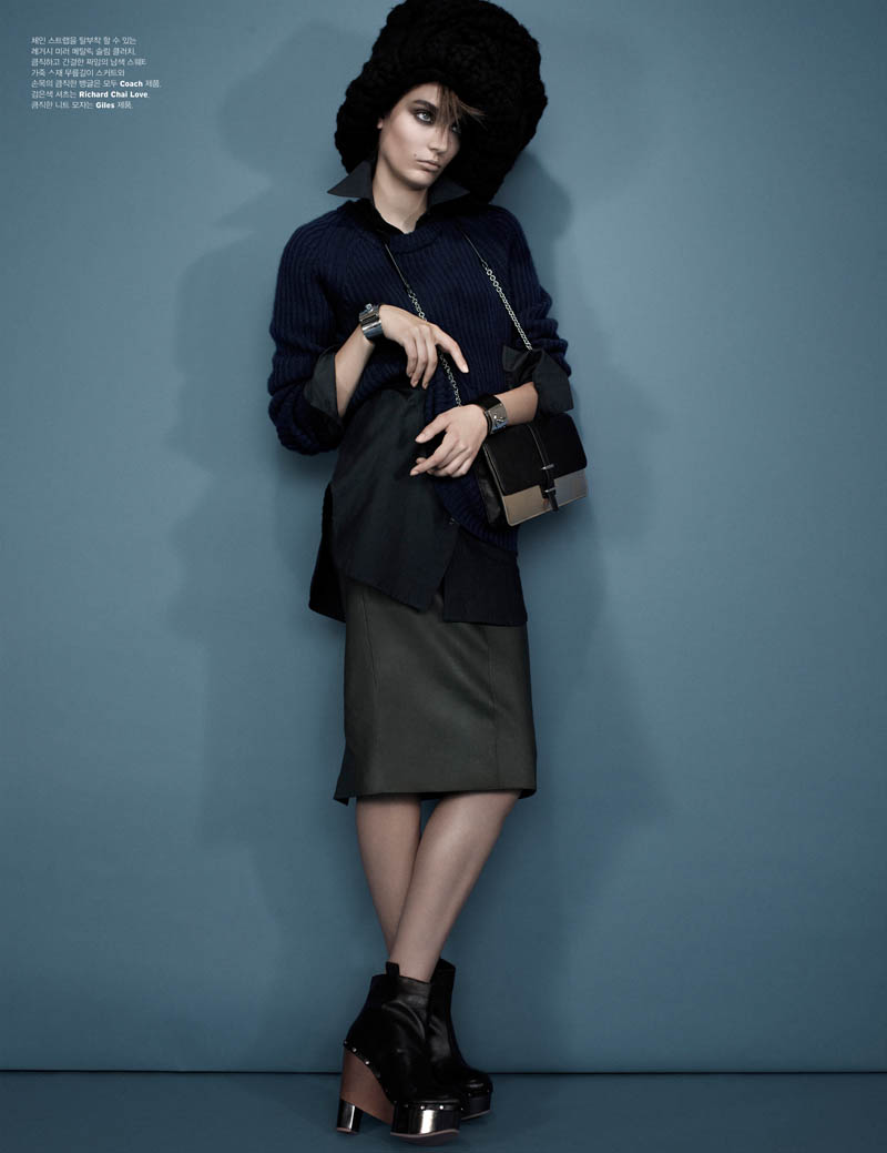 Zuzanna Bijoch is Moody Chic for W Korea Shoot by Catherine Servel