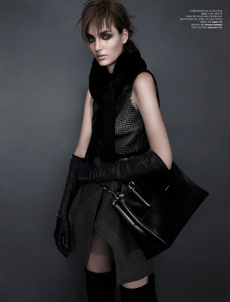 zuzanna w shoot6 Zuzanna Bijoch is Moody Chic for W Korea Shoot by Catherine Servel