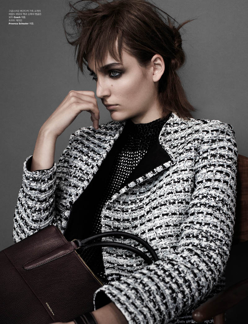 zuzanna w shoot7 Zuzanna Bijoch is Moody Chic for W Korea Shoot by Catherine Servel