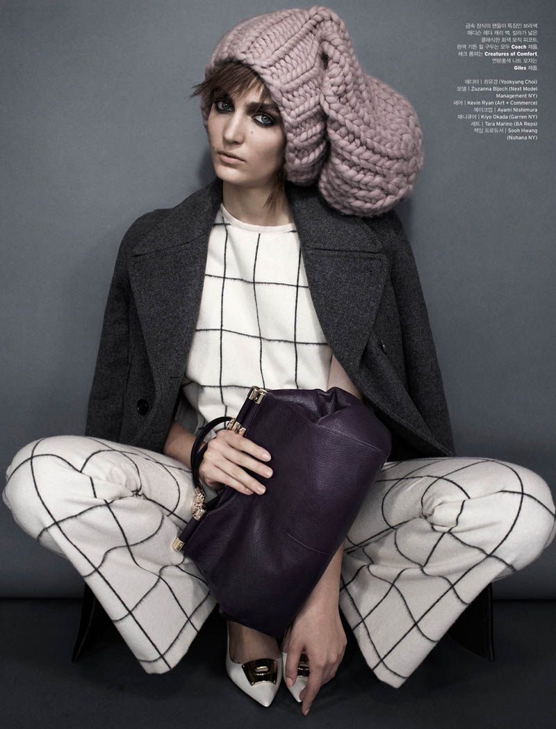 zuzanna w shoot8 Zuzanna Bijoch is Moody Chic for W Korea Shoot by Catherine Servel