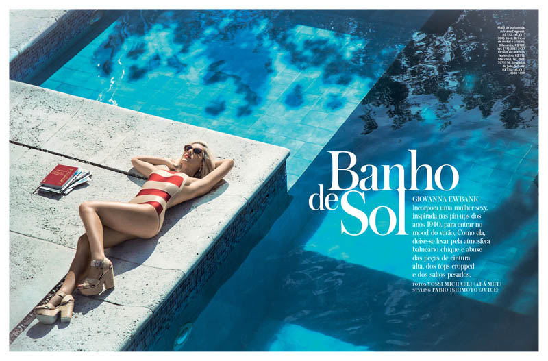 Giovanna Ewbank Goes Poolside for InStyle Brazil by Yossi Michaeli