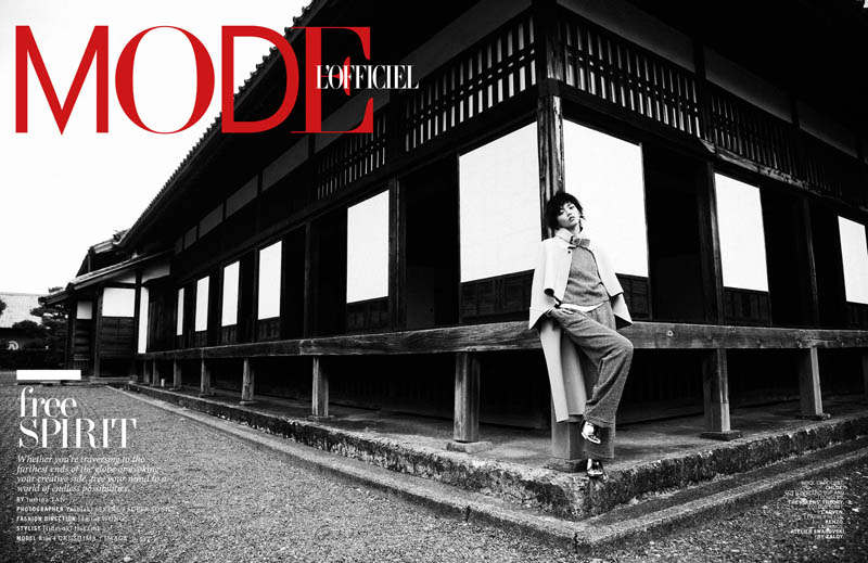 Rila Fukushima1 Rila Fukushima Stars in LOfficiel Singapore November Cover Story