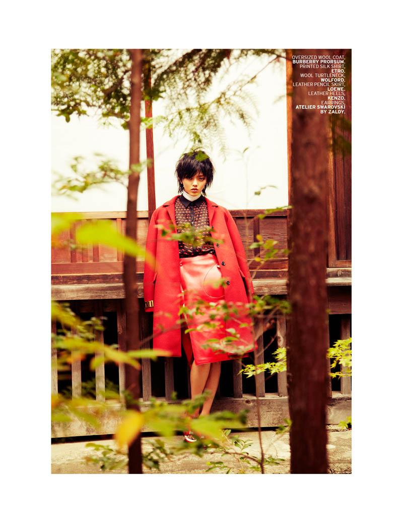 Rila Fukushima5 Rila Fukushima Stars in LOfficiel Singapore November Cover Story