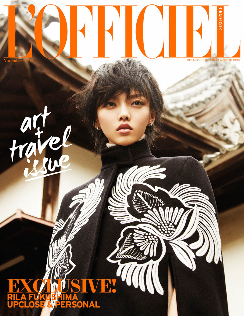 Rila Fukushima9 Rila Fukushima Stars in LOfficiel Singapore November Cover Story