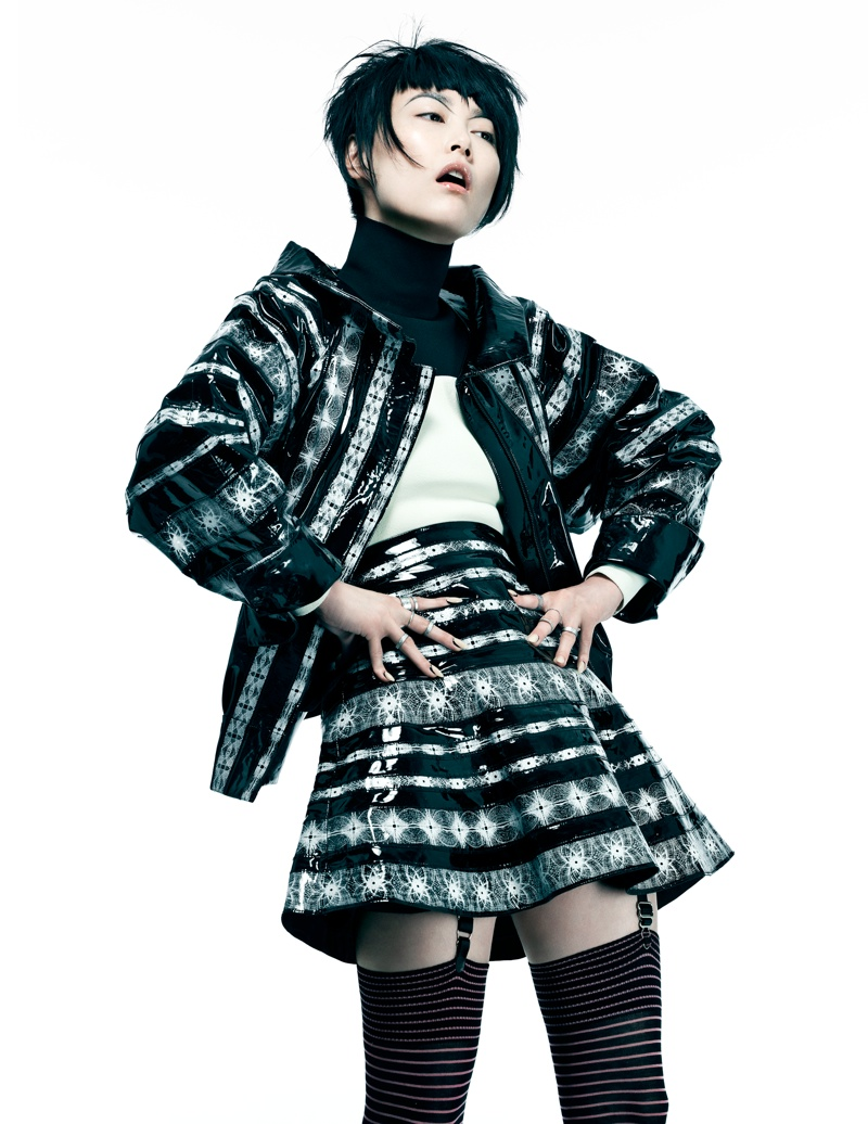 Rinko Kikuchi Wears Cutting Edge Style in Flaunt by Stevie and Mada