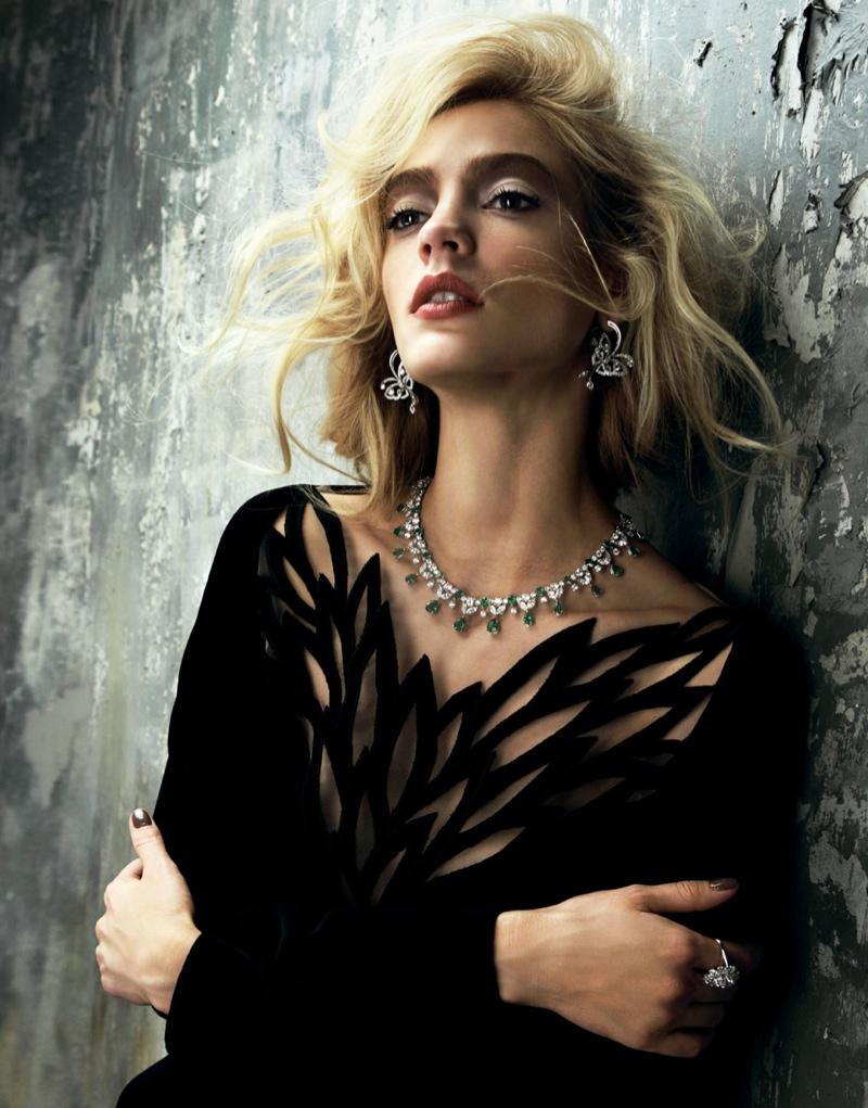 Veranika Antsipava Shines for Nikolay Biryukov in Elle Russia Shoot