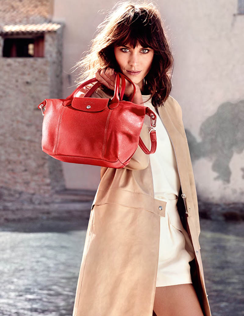 alexa chung longchamp1 Alexa Chung is the Face of Longchamps Spring 2014 Ads