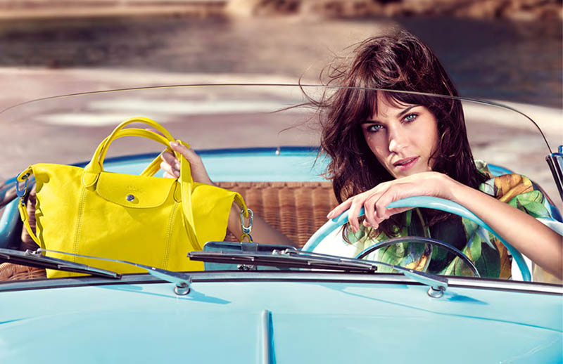 alexa chung longchamp2 Alexa Chung is the Face of Longchamps Spring 2014 Ads