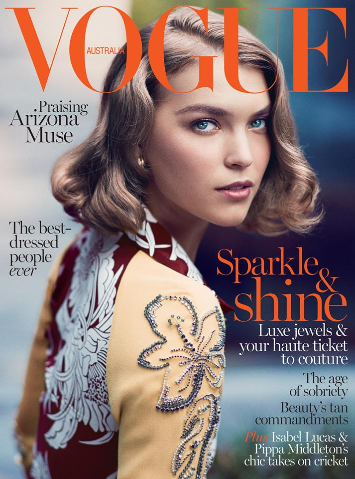 Arizona Muse Gets Retro for Vogue Australia's December 2013 Cover