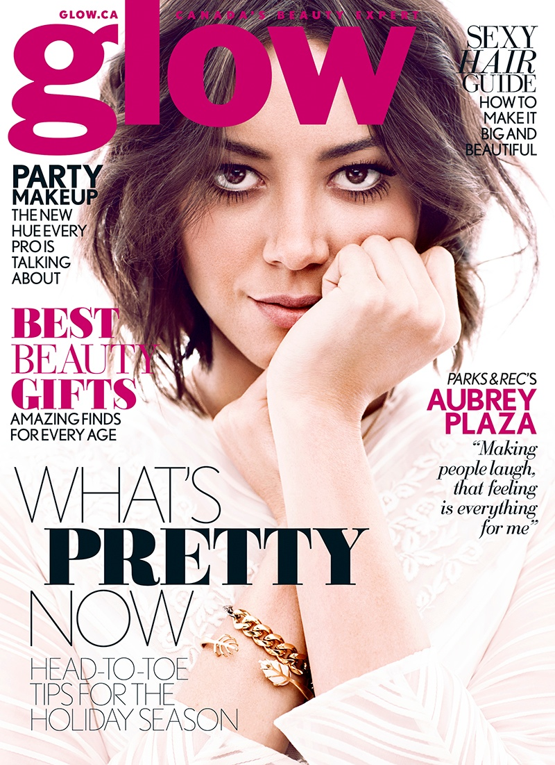 aubrey plaza1 Aubrey Plaza Poses for Chris Nicholls in Glow Winter 2014