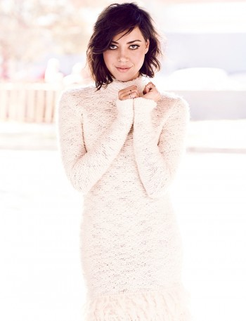 Aubrey Plaza Poses for Chris Nicholls in Glow Winter 2014