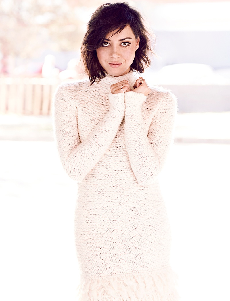 aubrey plaza4 Aubrey Plaza Poses for Chris Nicholls in Glow Winter 2014