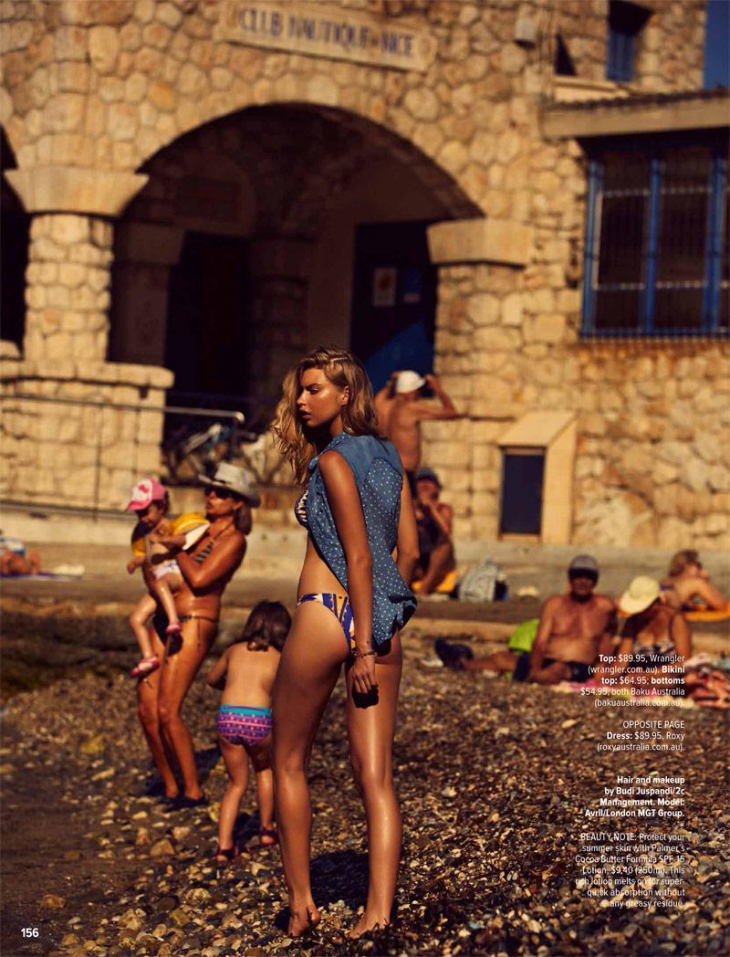 Avril Alexander Soaks Up the Sun in Swimwear Shoot for Cosmopolitan Australia