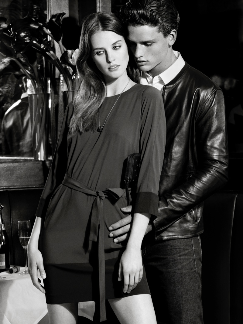 ax armani exchange holiday 2013 campaign 0008 Katya Riabinkina, Agne Konciute, Julia Frauche Front Armani Exchange Holiday 2013 Campaign