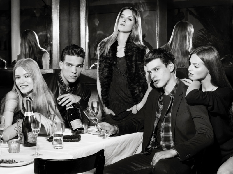 ax armani exchange holiday 2013 campaign 0012 Katya Riabinkina, Agne Konciute, Julia Frauche Front Armani Exchange Holiday 2013 Campaign