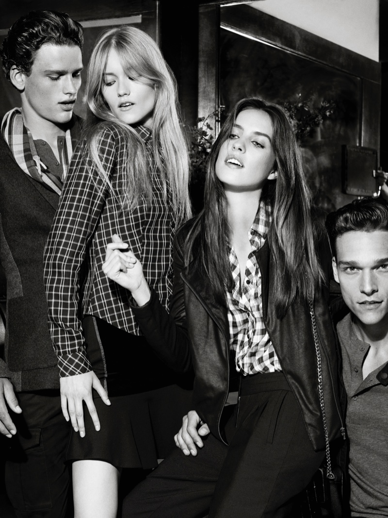 ax armani exchange holiday 2013 campaign 0016 Katya Riabinkina, Agne Konciute, Julia Frauche Front Armani Exchange Holiday 2013 Campaign