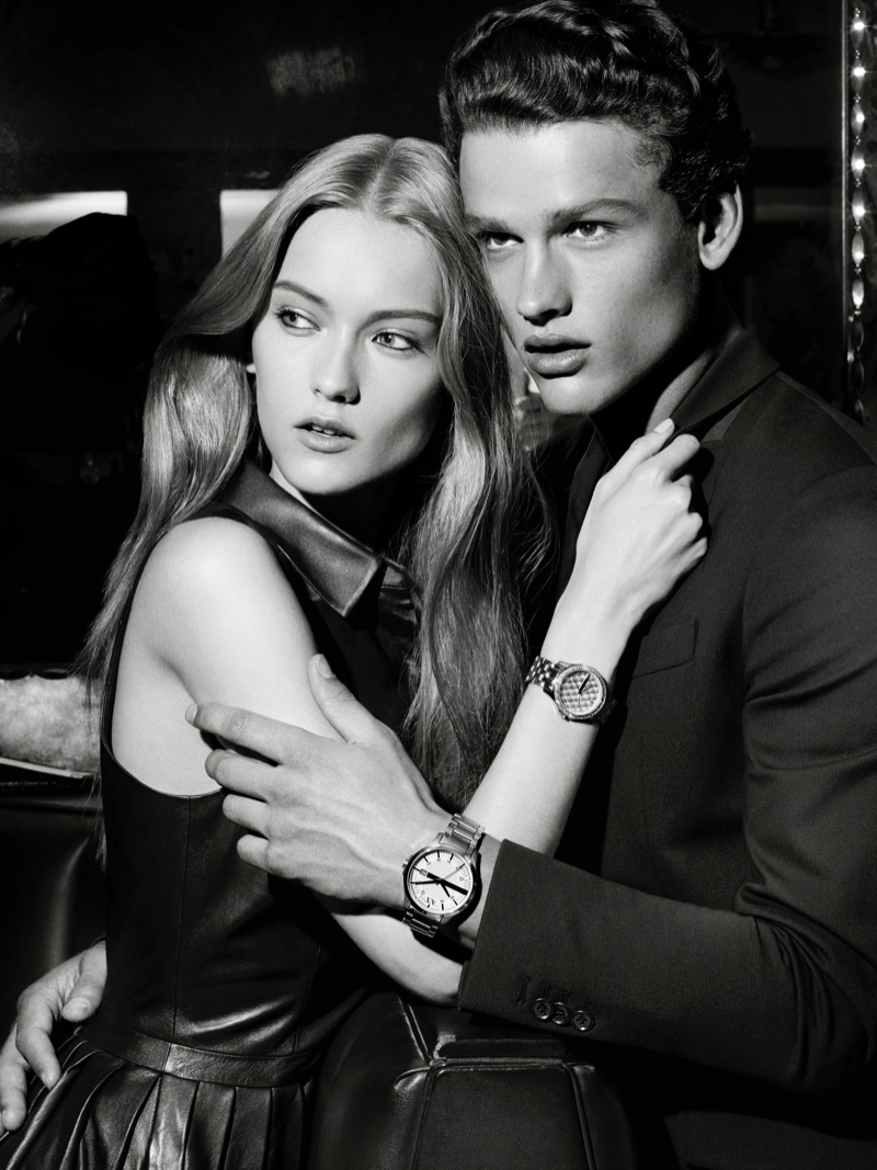 ax armani exchange holiday 2013 campaign 0020 Katya Riabinkina, Agne Konciute, Julia Frauche Front Armani Exchange Holiday 2013 Campaign